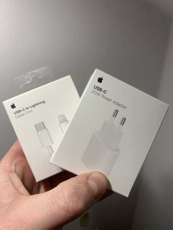 Кабель и блок 20W зарядка адаптер айфон iphone 11 12 pro 11 12 pro Max
