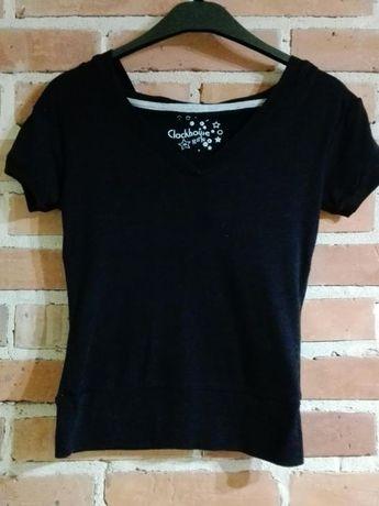 Młodzieżowa koszulka czarna z kapturem