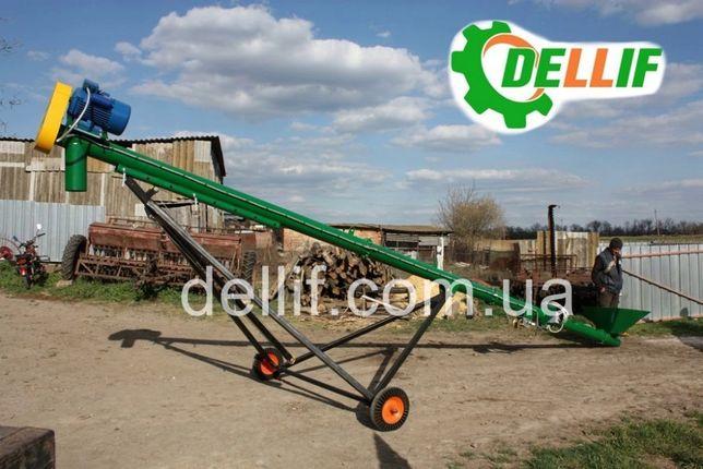 Шнековый погрузчик зерна( Транспортёр зерна) Диаметр 159, 6 м, 220 Вт