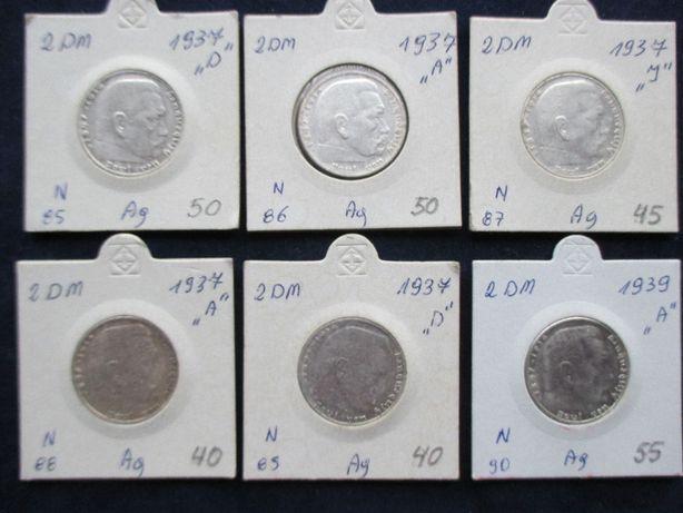 Zestaw srebrnych monet .Oryginały !!! 50