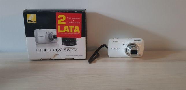 Nikon Coolpix S800C white stan BDB z polskiego sklepu