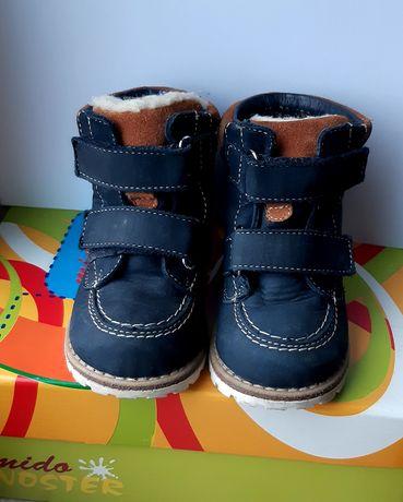 Buty zimowe skórzane rozm. 21
