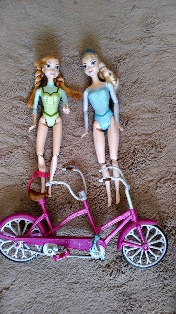 Kraina Lodu -rower i dwie lalki