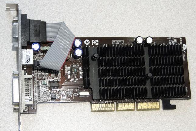 GeForce FX5200-DV128 NVIDIA 128MB VGA+DVI+TV AGP Karta graficzna do PC