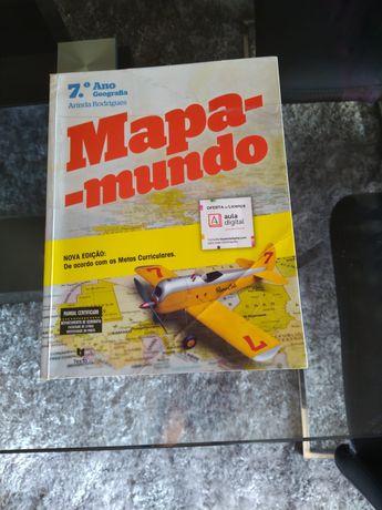 Manual & Caderno de Geografia 7.º Ano, Mapa-Mundo TEXTO Editora