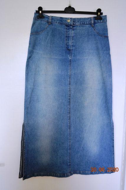 Spódnica jeansowa długa rozm. 42