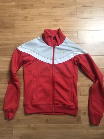 Śliczna czerwona zasuwana bluza nike oryginalna xs