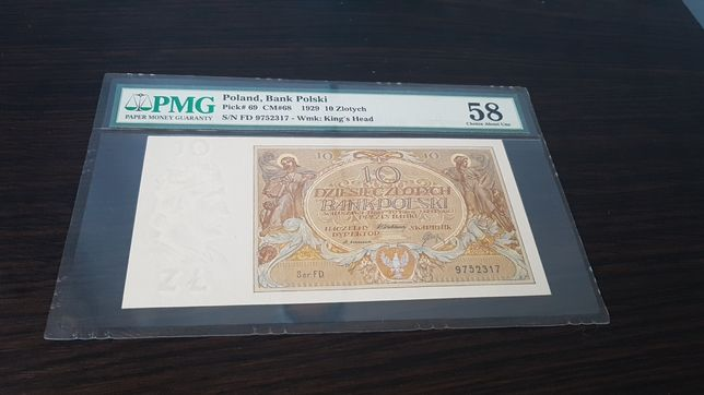 PMG Banknot 10zł grading