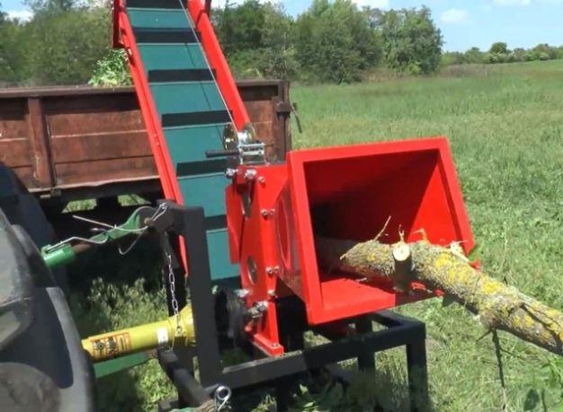 Измельчитель веток, Дробилка веток до 13 см на трактор