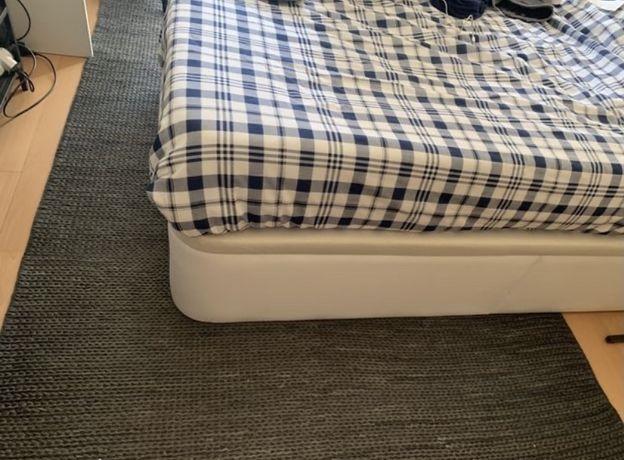 Carpete sisal natural da Zara Home em cor cinza azulado 2,50m/1,80m