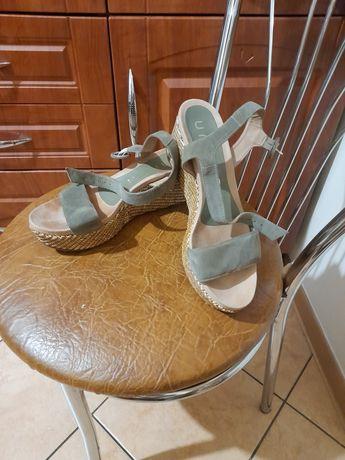 Sandały khaki 38