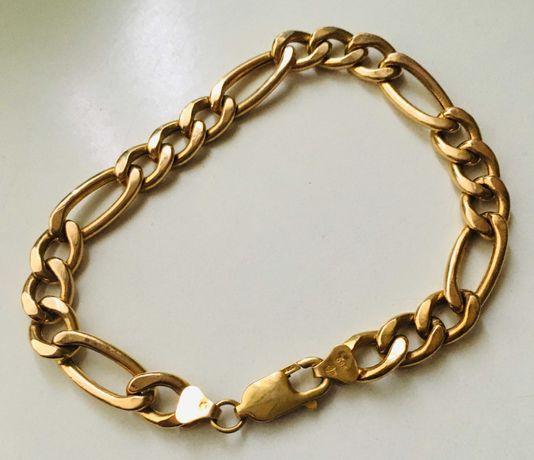 Piękna Złota bransoletka męska pr.585 14k 12,3g