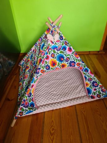Tipi - namiot dla psa, legowisko shih-tzu, maltanczyk 80x80