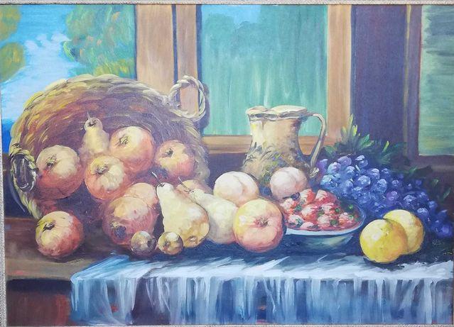 Pintura, em tela, a óleo