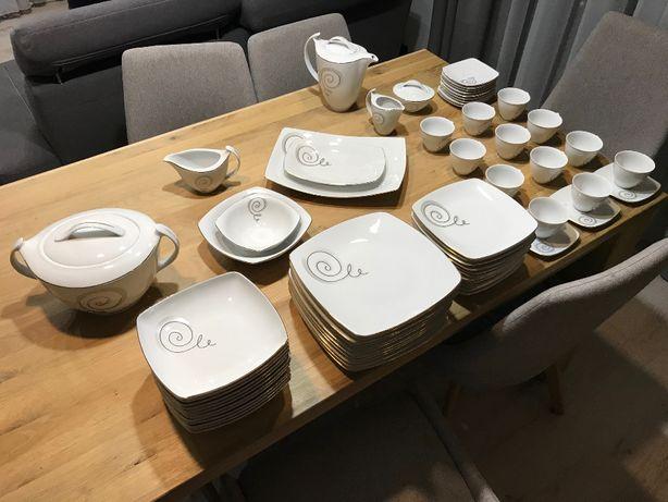 Serwis obiadowo - kawowy Ćmielów 12 osób - Porcelana