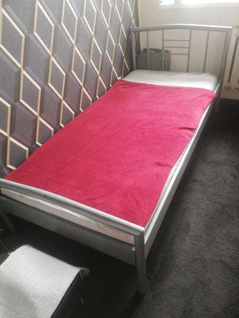 Łóżko metalowe z materacem 200x90cm