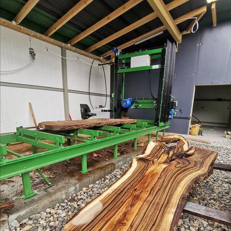 Trak XXL 142 cm pomiędzy rolkami. Przecieranie drewna ponad 1m średnic