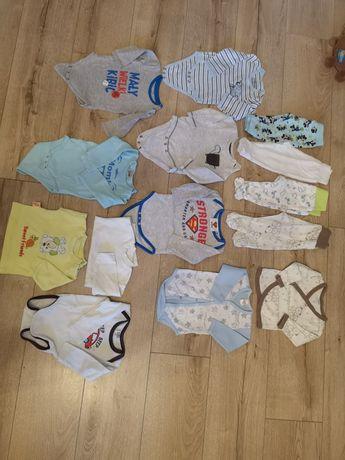 Paka ubranka dla niemowlaka 62-68 body półspioszki