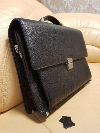 Портфель/сумка мужской кожаный (качественная натуральная кожа) Karya