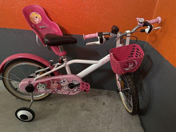 Bicicleta de crianca rosa