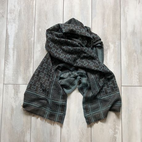 Gucci guccissima jacguard scarf шарф