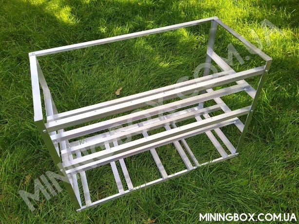 Каркас для майнинг фермы алюминий 100%, риг, для 8-12-13-14 видеокарт