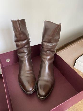 Зимові чоботи, шкіряні