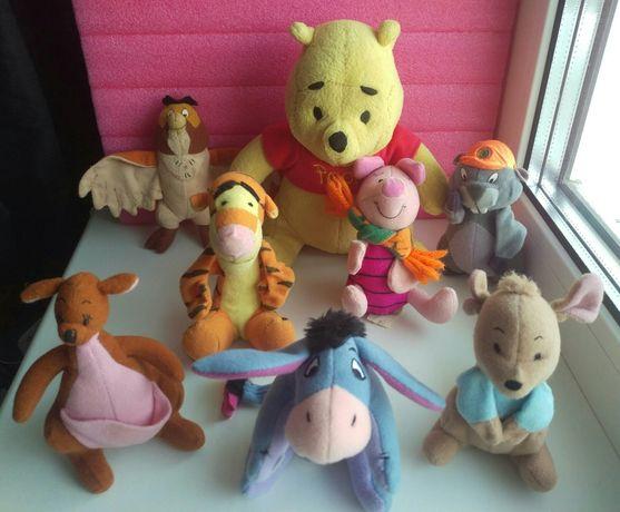 Мягкие игрушки Винни Пух, Пятачок, Тигра, Суслик,Ослик,Кенга,Крошка РУ