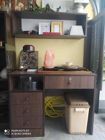 Biurko + półka ścienna + półka na książki/buty
