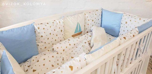 """Детский комплект """"Нежность"""" (бортики, постель, одеяло и подушка)"""