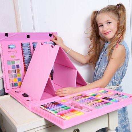 208 шт Набор художника для творчества с мольбертом для детей рисования
