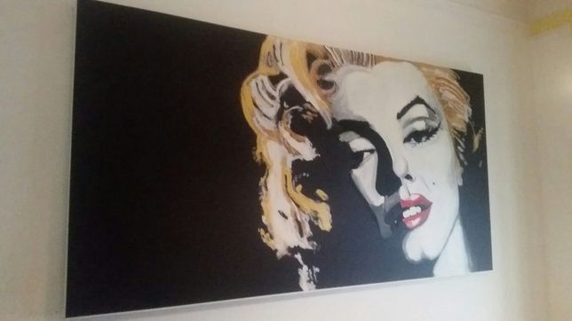 Quadro a óleo Marilyn Monroe