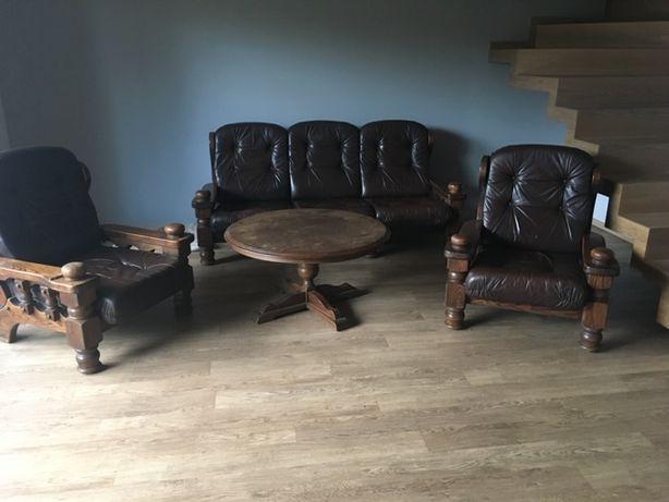 meble drewniane, wypoczynek, kanapa - sofa, ława, fotele