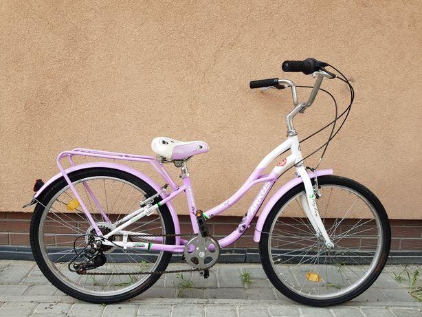 Rower dziecięcy dziewczęcy ROMET Koła 24 SHIMANO okazja