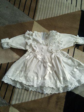 Платье праздничное красивое велюровое на девочку