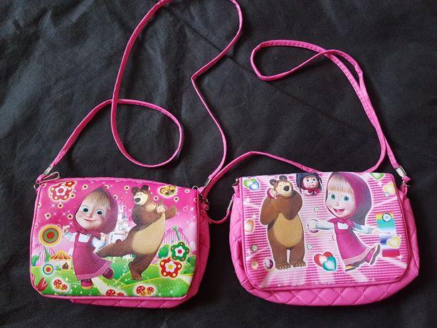 Torebki różowe Masza i Niedźwiedź torebka dla bliźniaczek dla sióstr
