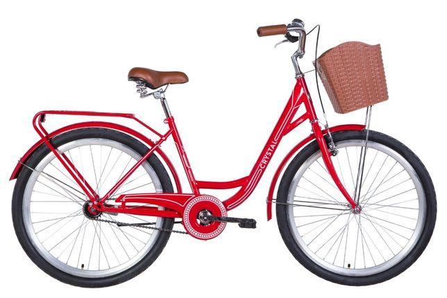 """Велосипед 26"""" Dorozhnik Crystal 2021 Цвет: Красный С Белым"""