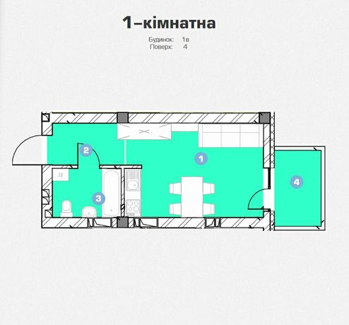 Смарт квартира від власника 28 м.кв.