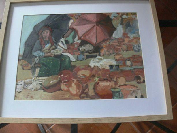 """Vendo pintura a óleo reprodução do pintor """"Carlos Reis"""""""