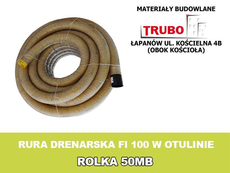 RURA DRENARSKA FI 100 drenaż w otulinie Łapanów - image 1