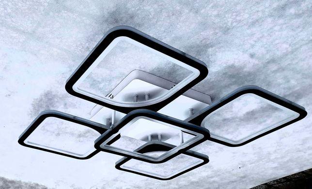 LAMPA LED SUFITOWA PLAFON ŻYRANDOL pilot/app zmiana barwy oraz jasność