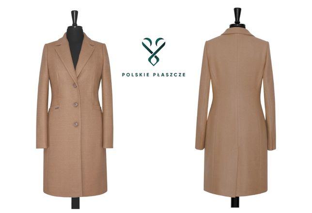 HUNA HELEN polski płaszcz zimowy ocieplany klasyczny rozmiary