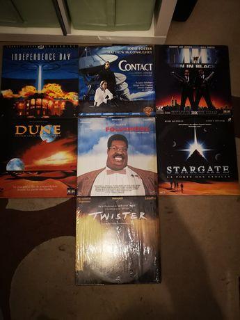 Laser disc's vários filmes