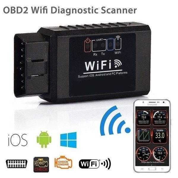 Автосканер мультимарочный WiFi v1.5 автомобильный сканер ошибок OBD2 E Запорожье - изображение 1