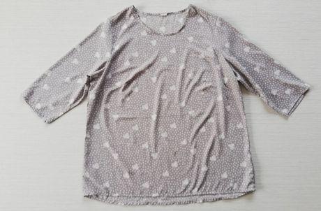 Szara bluzka w drobne wzorki r.50