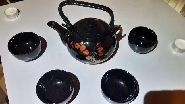 Japoński dzbanek i czarki, komplet do herbaty, nowe.