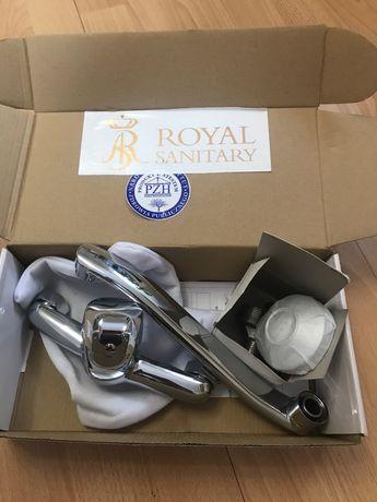 Bateria jednouchwytowa kuchenna chromowana nowa royal sanitary