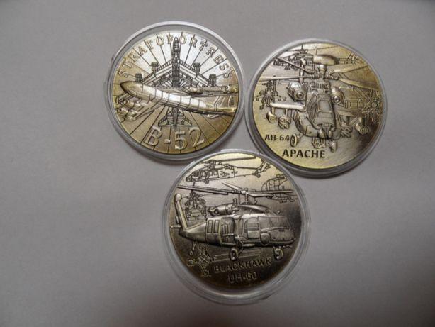 pamiątkowe monety numizmat medal lotnictwo samolot Apache Blackhawk