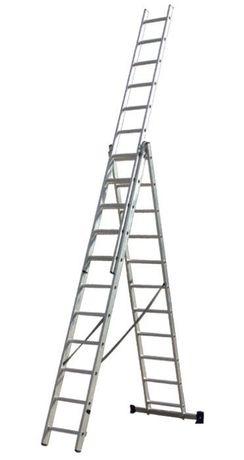 Лестница алюминиевая 3х12 3х14 КЕНТАВР Драбина