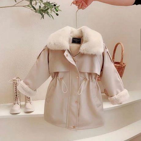 Детское стильное пальто на меху ! Новинка 2021!